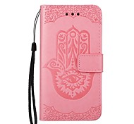 cheap -Case For Samsung Galaxy J5(2016) J3(2016) Card Holder Wallet with Stand Flip Pattern Embossed Full Body Cases Flower Hard PU Leather for