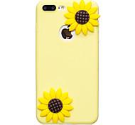 Для яблока iphone 7 7 плюс чехол крышка подсолнечник узор плод цвет tpu материал diy телефон чехол 6s 6 плюс se 5s 5