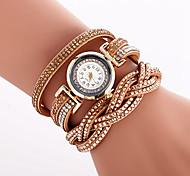 Women's Fashion Watch Bracelet Watch Unique Creative Watch Casual Watch Quartz PU Band Charm Luxury Vintage Creative Casual Cool Elegant
