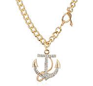 Жен. Ожерелья-бархатки Ожерелья с подвесками Заявление ожерелья Геометрической формы Металлический сплав СтразыВ виде подвески