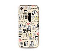 Недорогие -Кейс для Назначение Apple iPhone X iPhone 8 Plus Прозрачный С узором Задняя крышка Плитка Соблазнительная девушка Мягкий TPU для iPhone X