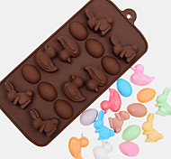 cheap -Fondant easter egg duck rabbit Man chocolate mold cooking tool Silicone Mold Fondant Sugar Bow Craft Molds DIY Cake Decorating