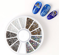 Pinpai Brand New Arrival High Quality Beautiful Colorful Nail Art Irregular Stone Designs 3D Nail Art Decorations in Wheel