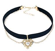 Женские колье ожерелья вязать сплав любовь сердце ювелирные изделия для событий / вечеринка повседневная одежда наружная одежда
