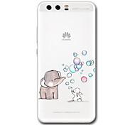 Недорогие -Кейс для Назначение Huawei Прозрачный С узором Задняя крышка Мультипликация Слон Мягкий TPU для P10 Plus P10 P9 P9 Lite P9 Plus P8 P8 Lite