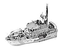 Недорогие -3D пазлы Металлические пазлы Наборы для моделирования Игрушки Военные корабли 3D Предметы интерьера Хром Металл Не указано Куски