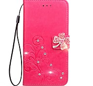 cheap -Case For Nokia Lumia 925 Nokia Lumia 630 Nokia Lumia 640 Nokia Nokia Lumia 530 Nokia Lumia 930 Card Holder Wallet Rhinestone with Stand