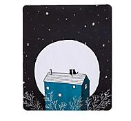 Юная дама в конце набора кошек искусство свежесть иллюстратор коврик для мыши натуральная резиновая ткань 20 * 23,8