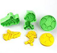 2017 New Arrival Set of 3 Football Sneakers Sports Symbols Cake Molds Music Party Cookie/Biscuit Cutter Fondant Cake Decorating Tools