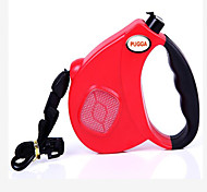 Dog Training Collars Leash Hands Free Leash Portable Low Noise Double-Sided Breathable Adjustable Safety Solid Plastic Black Red Blue