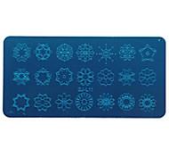 Недорогие -гвоздь штамповки ногтей инструменты печати шаблон геометрические кружева животных цветы шаблон