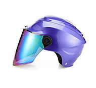 cheap -MOTOCUBE Four Seasons Motorcycle Helmet Male Summer Electric Car Helmet Female Summer Dual Mirror Half Helmet One Size
