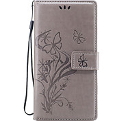 Case For Huawei P10 P8 Lite (2017) Case Cover Butterfly Love Flower Embossed Pattern PU Material Card Stent Wallet Phone Case P10 Lite P10 Plus