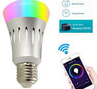 cheap -YWXLIGHT® 7W 600lm E27 LED Smart Bulbs A60(A19) 22 LED Beads SMD 2835 WiFi RGB White 85-265V