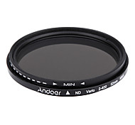 Andoer 52mm ND Fader Neutral Density Adjustable ND2 to ND400 Variable Filter for Canon Nikon DSLR Camera