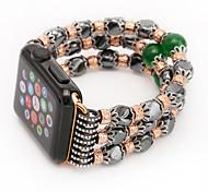 Agate design cordão cinta banda de ágata para maçã relógio com adaptador de conexão