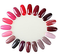 10Pc 20 Display Wheel Nail Polish UV Gel Color Show Card Template Salon Practice Natural False Nail Tips