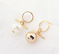Drop Earrings New Mismatching Asymmetry Earrings Personalized Boll Shape Pearl Jewelry For Women Daily Party Gift Movie  Jewelry