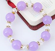 Women's Strand Bracelet Rhinestone Fashion Resin Alloy Round Jewelry Casual/Daily 1pc
