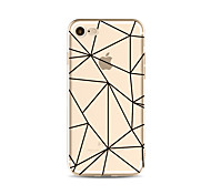 Case for iPhone 7 Plus 7 Cover Transparent Pattern Back Cover Case Geometric Pattern Soft TPU for iPhone 6s plus 6 Plus 6s 6 SE 5s 5c 5 4s 4