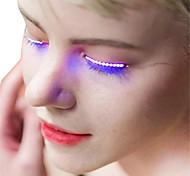 Недорогие -ywxlight® 1 пара светящиеся глаза привели ресницы лампа двойной кожи наклейки ложные ресницы лампа для Хэллоуин бар