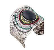 Women's Bangles Cuff Bracelet ID Bracelets Fashion Vintage Bohemian Punk Costume Jewelry Resin Rhinestones Circle Geometric Jewelry For
