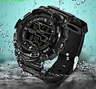 SANDA Men's Sport Watch Wrist watch Digital Watch Japanese Digital Alarm Calendar Water Resistant / Water Proof Noctilucent Rubber Band