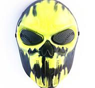 Недорогие -Хэллоуин творческий череп страшный призрак маска wargame главный тактический cs косплей камуфляж черный огонь маска карнавал маскарад