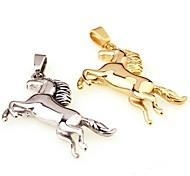 Недорогие -Муж. Мальчики Кулоны Одинарная цепочка Геометрической формы Титановая сталь Серебрянное покрытие ПозолотаЖивотный дизайн Мода Простой