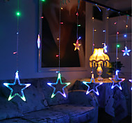 10M 60LED RGB Christmas Lights Star Lights Holiday Wedding Party Decorations Curtain Lights String Lights 220V