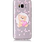 Кейс для samsung galaxy s8 plus s8 phone кейс tpu материал медведь рисунок покрашенный телефон кейс s7 край s7 s6 край s6
