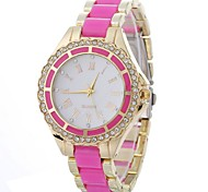 Women's Wrist watch Simulated Diamond Watch Casual Watch Chinese Quartz Alloy Band Sparkle Black White Blue Red Pink Rose