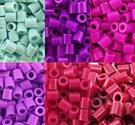 около 500 шт / мешок 5мм предохранителей бусины Hama бисер DIY головоломки Ева материал Сафти для детей (ассорти 6 цветов, b38-b43)
