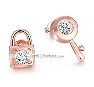 Women's Stud Earrings Fashion Personalized Zircon Rose Gold Plated Alloy Jewelry For Gift Daily Casual Office & Career