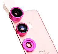 Mobile Phone Lens Fish-Eye Lens Wide-Angle Lens Macro Lens Aluminium Alloy 10X and above 180
