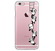 For iPhone X iPhone 8 Case Cover Transparent Pattern Back Cover Case Cartoon Panda Soft TPU for Apple iPhone X iPhone 8 Plus iPhone 8