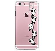 Para iPhone X iPhone 8 Case Tampa Transparente Estampada Capa Traseira Capinha Desenho Animado Panda Macia PUT para Apple iPhone X iPhone