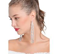 Women's Drop Earrings Earrings Set Obsidian Tassel Sexy Handmade Fashion Statement Jewelry Imitation Pearl Alloy Line Jewelry ForParty