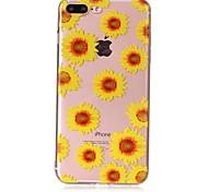 Недорогие -Case for apple iphone 7 7 plus чехол крышка модель подсолнечника чувствую лак рельеф высокое проникновение тп материал телефон чехол для