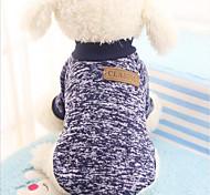 Недорогие -Кошка Собака Толстовка Рождество Одежда для собак Однотонный Цвет отправляется в случайном порядке Чинлон Костюм Для домашних животных