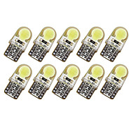 10pcs T10 COB LED 150MA Silicone Case Instrument Light License Plate Bulbs Wedge Lamp Car Styling LED 7 colors DC12V