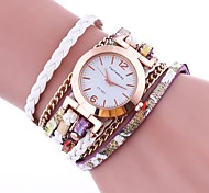 Women's Fashion Watch Bracelet Watch Chinese Quartz PU Band Vintage Casual Elegant Black White Blue Red Brown Green Gold Pink