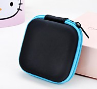 cheap -1 PC Soild Color Square Headphone Zipper Storage Bag