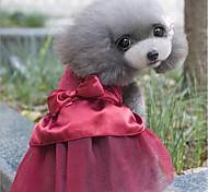 Недорогие -Кошка Собака Платья Одежда для собак Для вечеринки На каждый день Свадьба Новый год Стразы Темно-синий Красный Костюм Для домашних