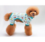 Dog Pajamas Dog Clothes Casual/Daily Rabbit/Bunny Green Blue Blushing Pink