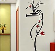Цветочные мотивы/ботанический ботанический Романтика Наклейки 3D наклейки Декоративные наклейки на стены,Акрил материал Украшение дома