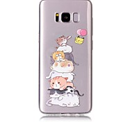 Case For Samsung Galaxy S8 Plus S8 Phone Case TPU Material Cat Pattern Painted Phone Case S7 Edge S7 S6 Edge S6