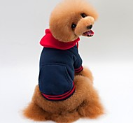 Кошка Собака Плащи Толстовки Одежда для собак Хлопко-льняная смешанная ткань Весна/осень Зима На каждый день Сохраняет тепло Спорт