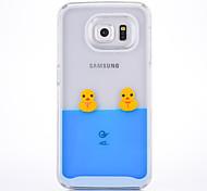 Недорогие -Кейс для samsung galaxy s6 s6 кромка кейс покрытие колокола утка рисунок шт материал мобильный телефон случай