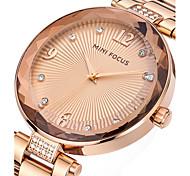 abordables -Mujer Reloj de Pulsera Creativo / Cool / Reloj Casual Acero Inoxidable Banda Encanto / Lujo / Casual Plata / Dorado / Oro Rosa
